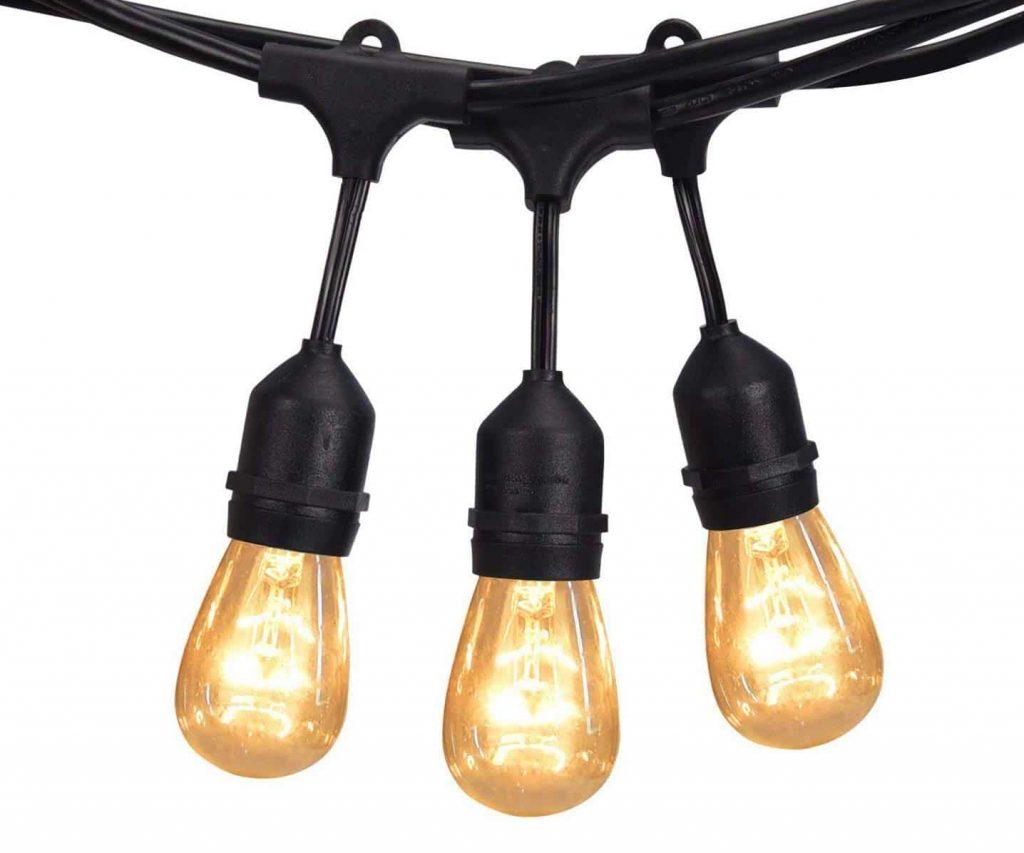 JACKYLED 48Ft Outdoor String Lights Liberal String