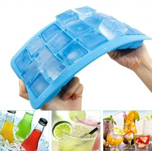 Korlon 3 Pack Silicone Ice Cube Trays