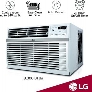 LG LW8016ER Remote Control Window-Mounted Air Conditioner