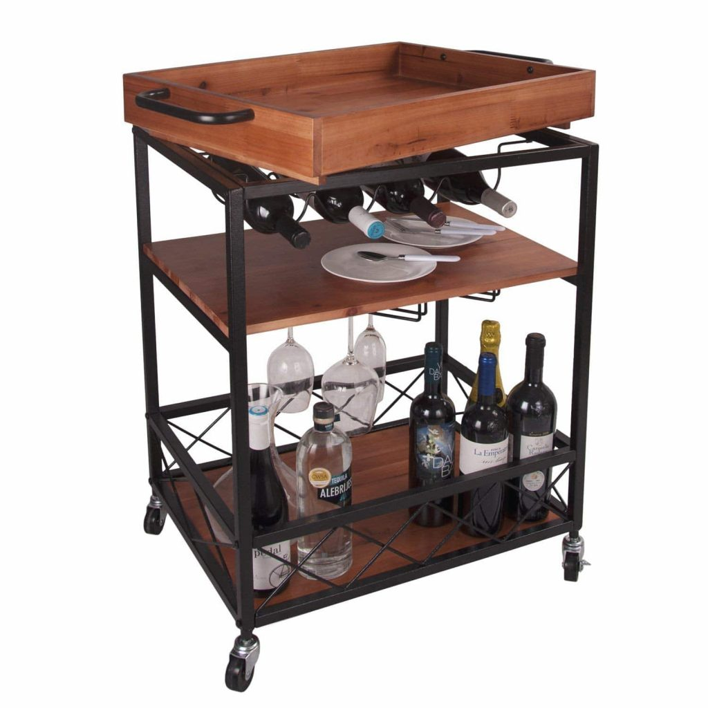 LIGHT the 24 x18 solid wood kitchen cart