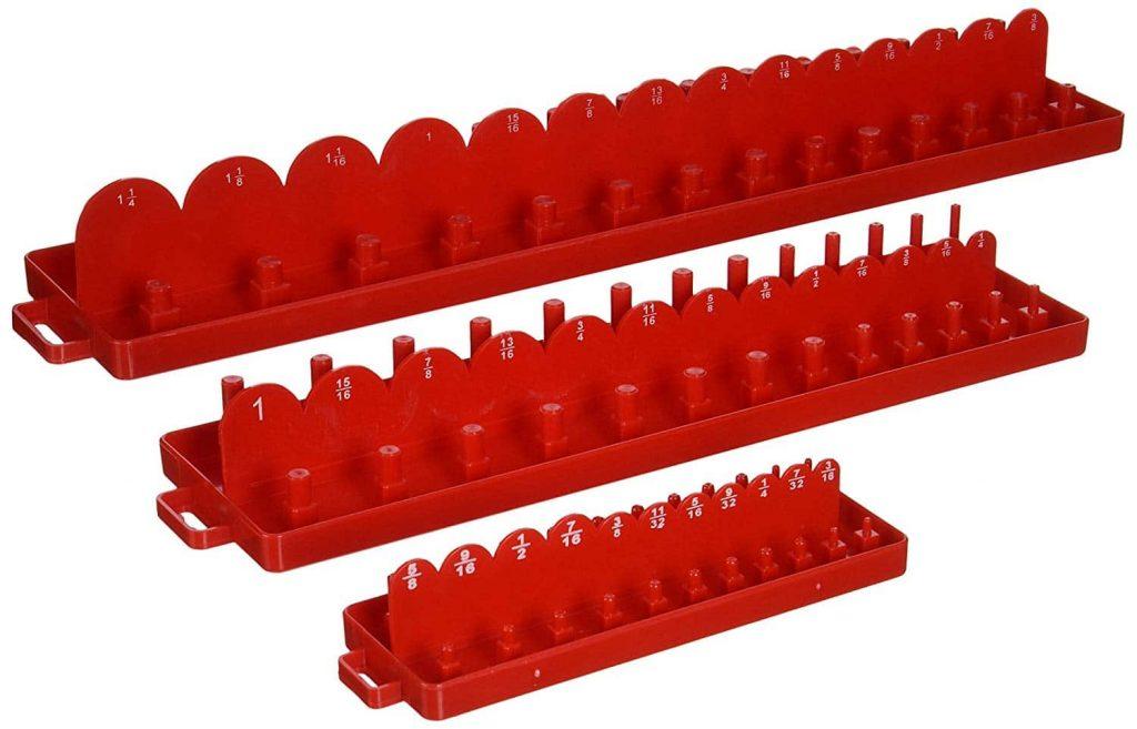 Neiko 03965A Double Row Socket Tray Organizer Case