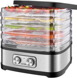 OSTBA Food Dehydrator, Adjustable Temperature Control