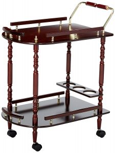 Traditional recreation room Merlot Serving cart