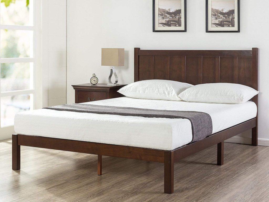 Zinus Rustic Style Wood Platform Bed
