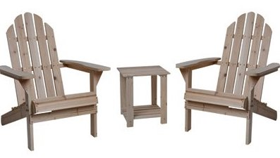 Fir wood Adirondack chairs
