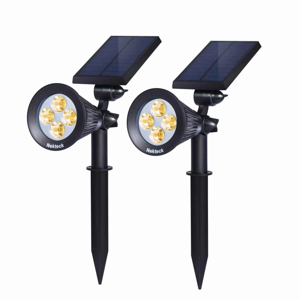 Nekteck-2-Pack-Warm-White-Solar-Powered-Spotlight