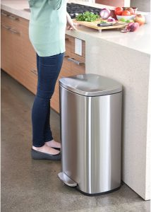 iTouchless SoftStep Trash Can