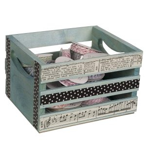 Mini Wooden Crate 6.5-inches by 5.3-inches by 4.25-inches