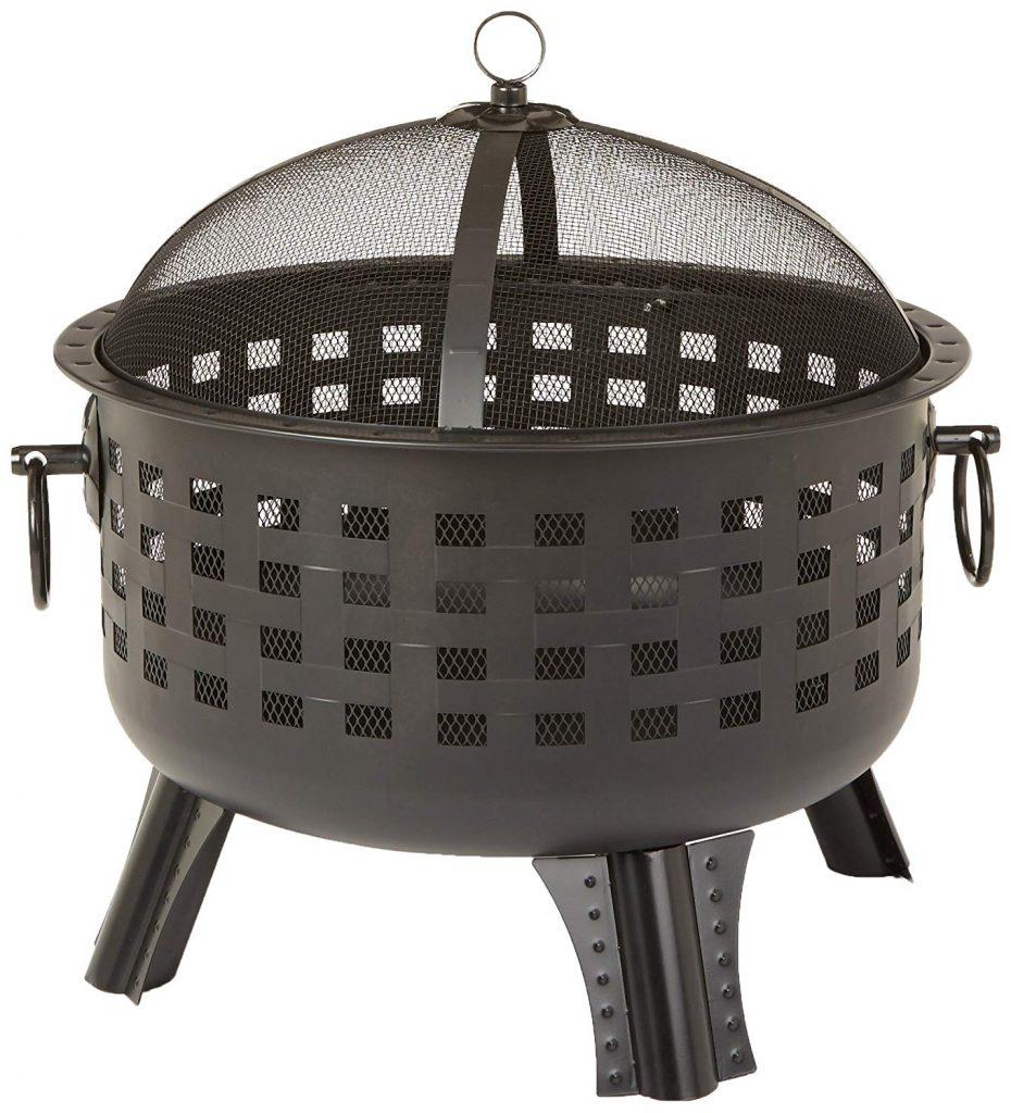 27-8-Inch Steel Lattice Fire Pit