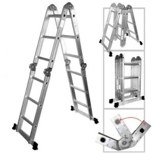 ALEKO-FL-12 Heavy Duty Aluminum Multi-Purpose Folding Ladder
