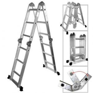 ALEKO-FL-12 Heavy Duty AluminumMulti-Purpose Folding Ladder