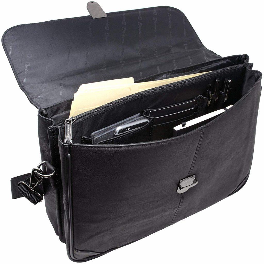 Alpine Swiss Portfolio Briefcase Flap-Over