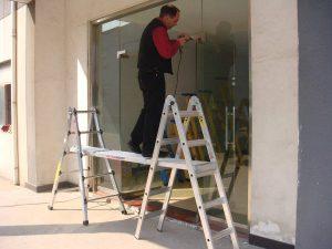 Aluminum Folding-Scaffold Work Ladder-11.5-ft.