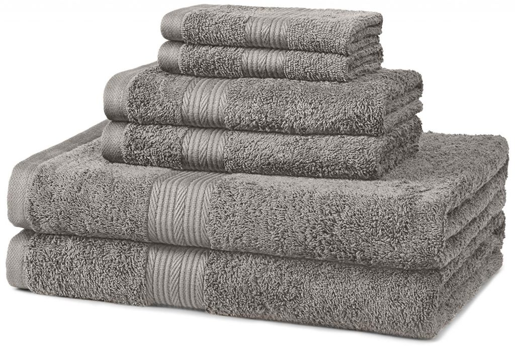 AmazonBasics 6-Piece Fade-Resistant Towel