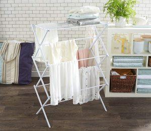 AmazonBasics Foldable White Drying Rack