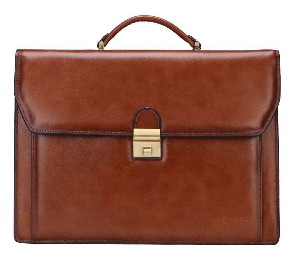 Banuce Vintage Genuine Briefcase Messenger