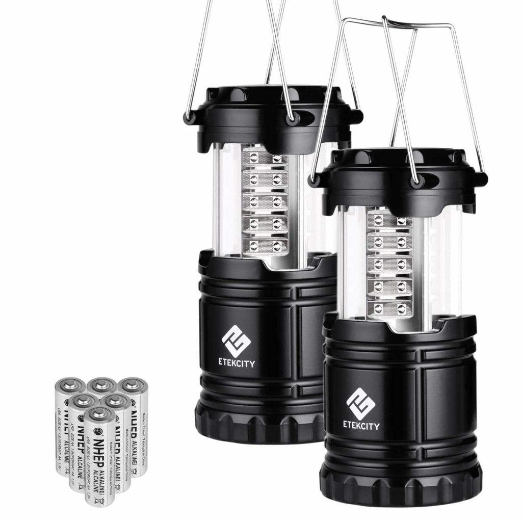 Etekcity-2-Pack-Black Collapsible Lantern