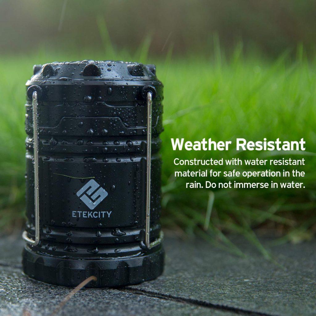 Etekcity-3-Pack Black Collapsible LED Lantern