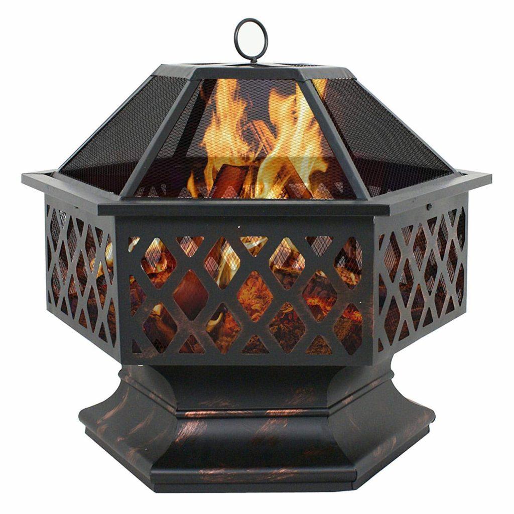 F2C Outdoor Burning Fireplace Backyard