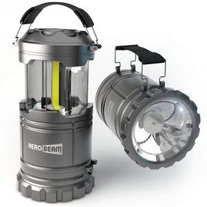 HeroBeam LED Lantern-V2.0 amidst Flashlight