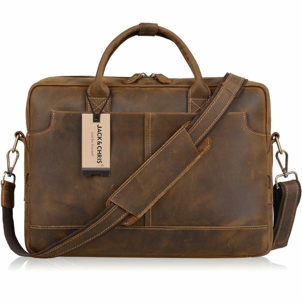 Jack Chris Genuine Briefcase Messenger
