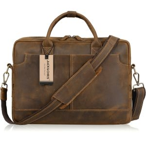 Jack Chris Genuine Briefcase Messenger