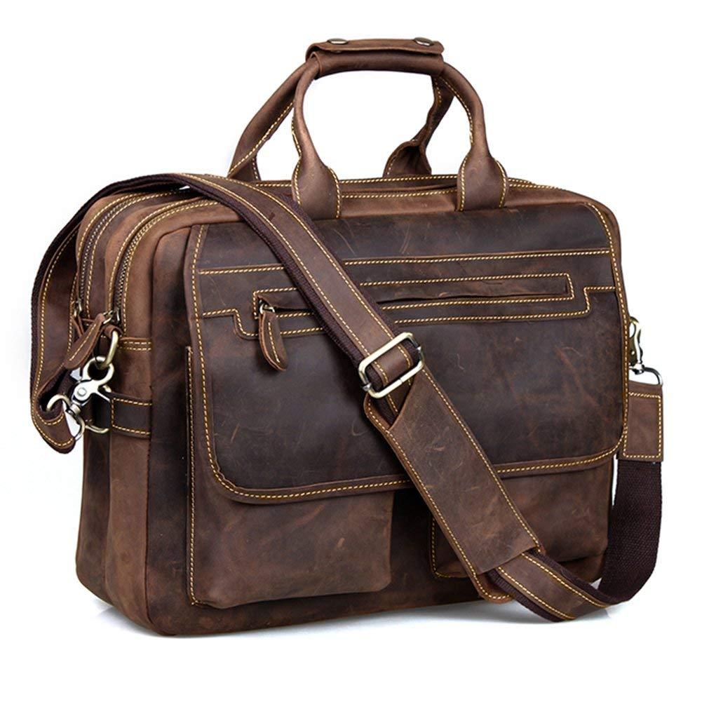 Kattee Leather Briefcase Shoulder Business