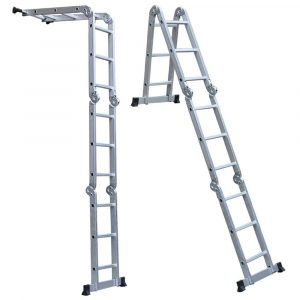 Lightweight 12' Aluminum multipurpose Ladder