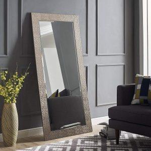 Naomi Home Mosaic Mirror Silver