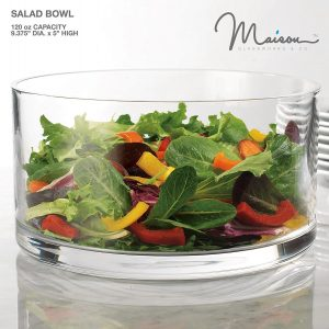 Quality Large Glass Round Salad