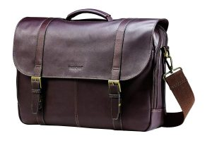 Samsonite Colombian Leather Flap Over Messenger