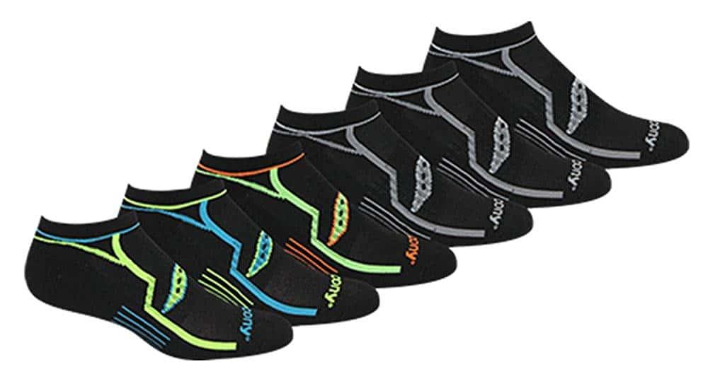 Saucony Men's Performance Comfort Fit No Show Socks