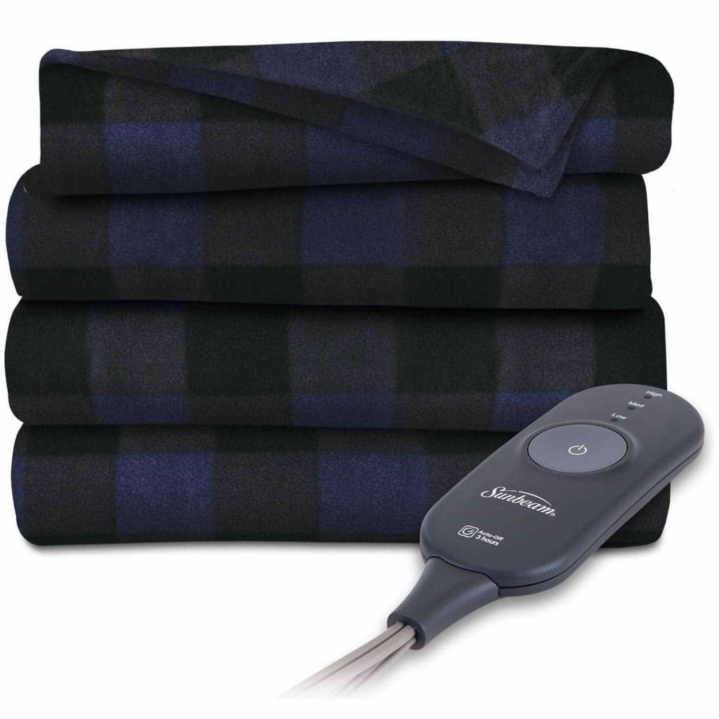 Sunbeam Heated Electric Blanket Fleece