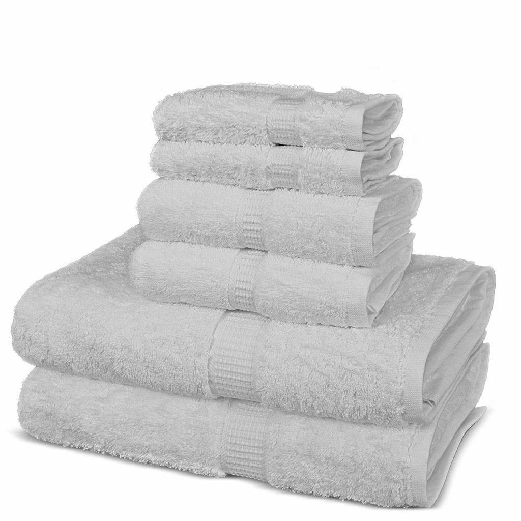 TURUOISE Eco-Friendly Bath Towels (Set of 6)