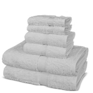 TURUOISE Eco-Friendly Bath Towels (Set of 6)