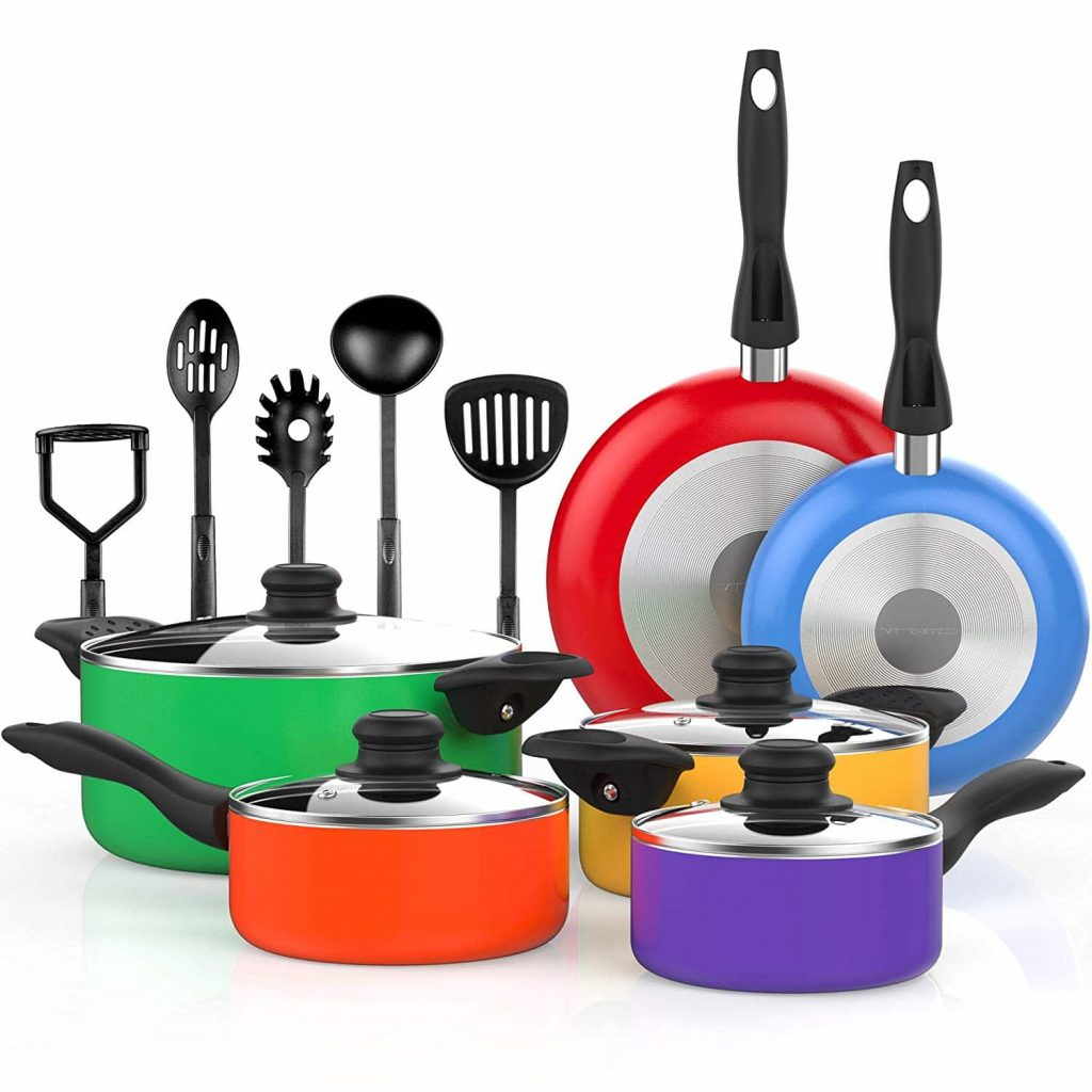 Vremi Nonstick Cookware Saucepans Utensils