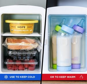 Chefman Portable Fridge, 4 Liter Capacity- White