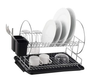 Deluxe Chrome plated Drainboard Cutlery BlackII