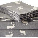 Eddie Bauer Elk Grove Flannel Sheet Set, Queen, Gray
