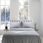 Genteele Flannel Sheet Set (100% Cotton) -4 Piece Set, Queen, Gray