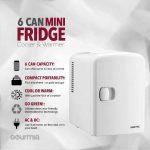 Gourmia GMF600 Mini Fridge - 4 Liter Capacity for Home or Office