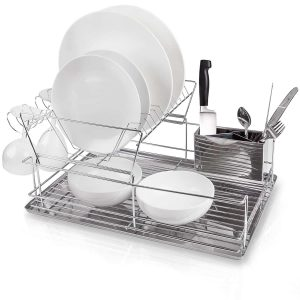 Home Intuition-2-Tier Drainer Utensil