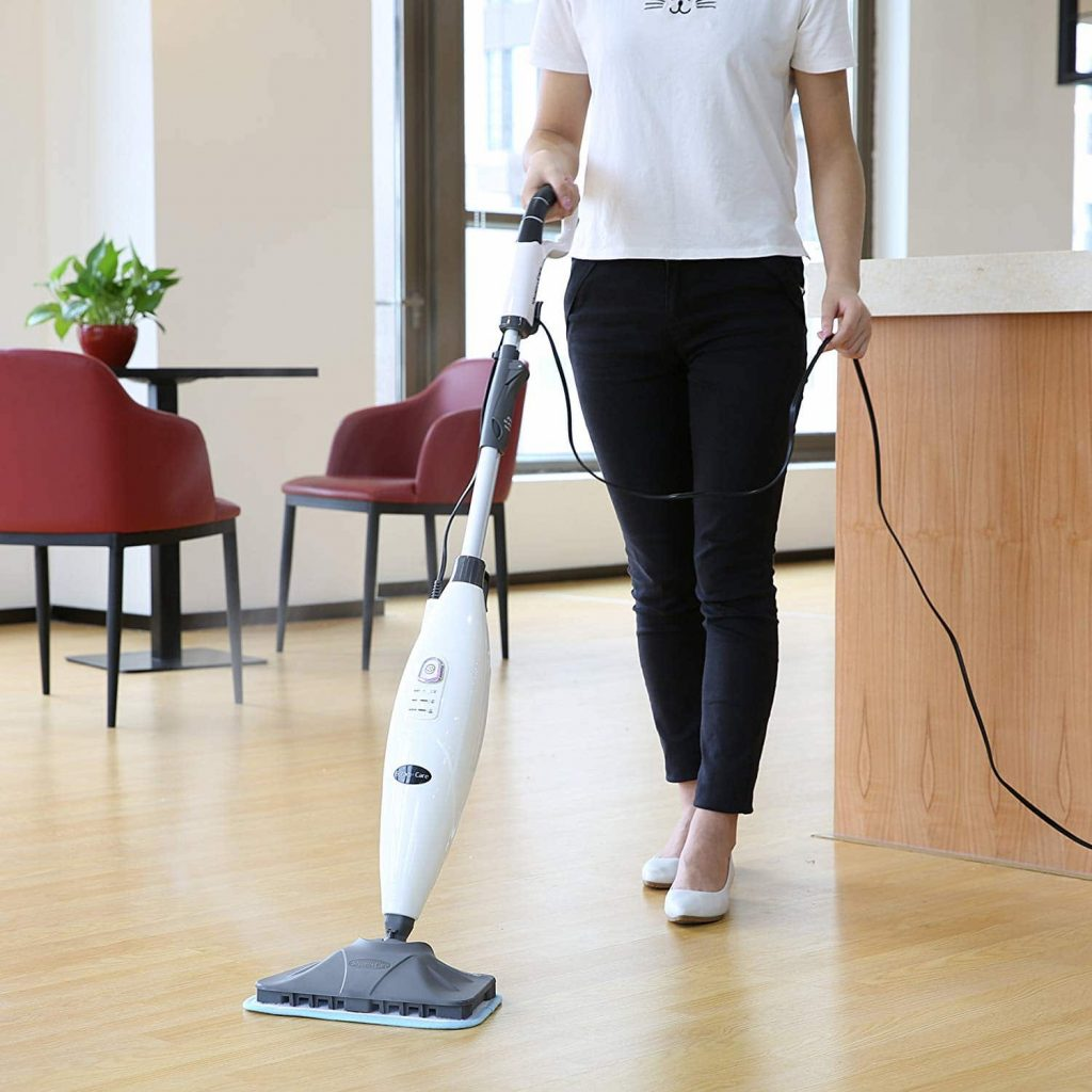 INLIFE Steam Mop with 3 Microfiber Pads