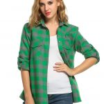Jingjing1Women's Plaid Flannel Shirt