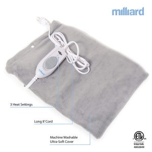 Milliard Electric Therapy 15in x 12in Heating Pad-Gray