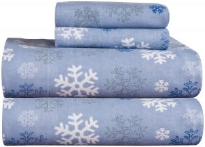 Pointehaven Heavy Weight 100% Cotton Sheet Set Printed Flannel