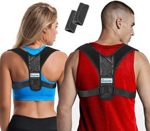 Posture Corrector for Women & Men + Bonus Underarm Pads
