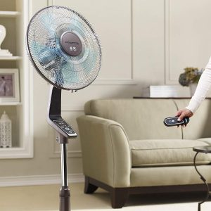 Rowenta Fan, 4-Speed Oscillating Silver Fan with Remote Control