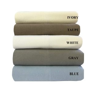 Royal's Heavy Duty Soft 100% Cotton Flannel Sheets, 4piece