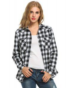 Sexyfree-Womens Flannel Shirt